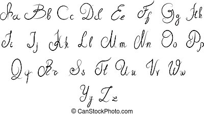 Vector calligraphic alphabet