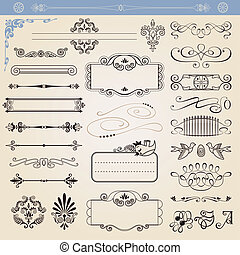 Vector calligraphic decorations - Vector calligraphic...