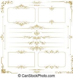 Vector Calligraphic ornament set