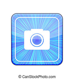Vector camera app icon on white background. Eps 10