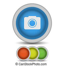 Vector camera icon on white. Eps10