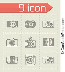 Vector Camera icon set