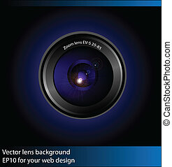 Vector camera lens background
