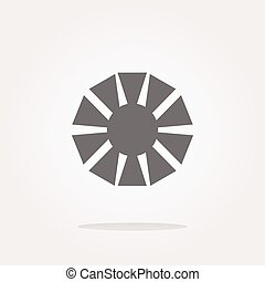 vector Camera objective icon (symbol)