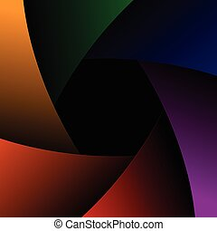 Vector camera shutter Colorful background.