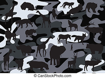 camouflage - vector camouflage background with animal ...