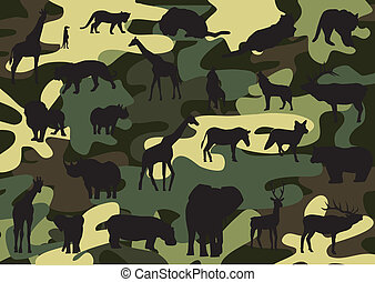 camouflage - vector camouflage with animal silhouette