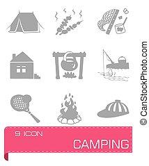 Vector Camping icon set