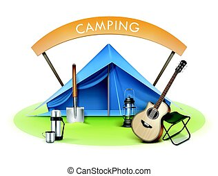 Vector Camping zone