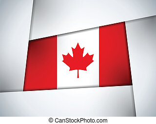 Canada Country Flag Geometric Background