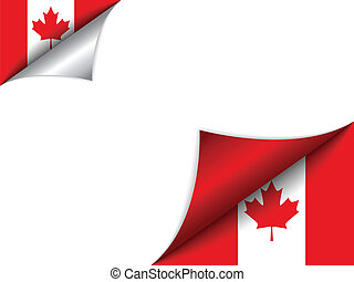 Canada Country Flag Turning Page - Vector - Canada Country...