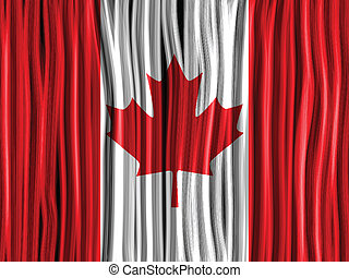 Canada Flag Wave Fabric Texture Background