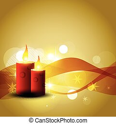 vector candle design illustration