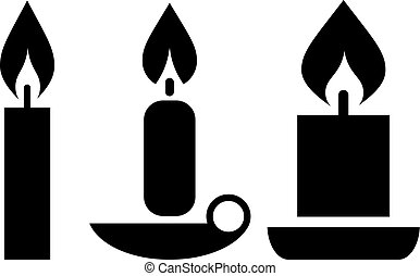 Vector candle icon