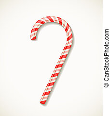 vector candy cane isolated on white