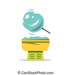 Vector Candy Floss Cartoon Illustration. - Equipment for the...