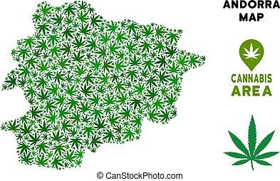 Vector Cannabis Composition Andorra Map