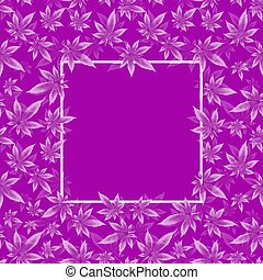 vector, cannabis, frame, bladpatroon