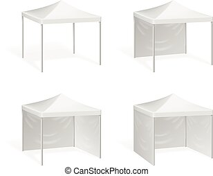 Vector canopy. Pop up tent for outdoor event. Canopy from...