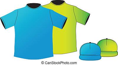 vector-cap, tシャツ, &