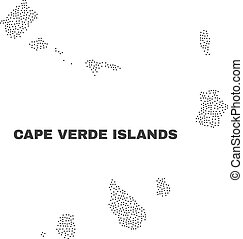 Vector Cape Verde Islands Map of Points