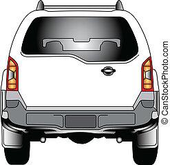Vector-Car back view - 100 Adobe Illustrator vector image...