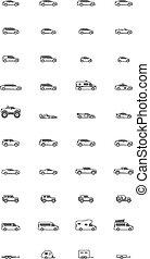 Vector car icons