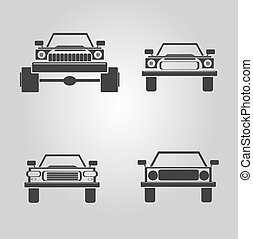 car logo set. vector car icons collection