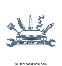 vector car repair logo