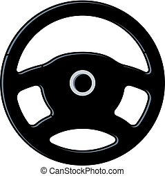 vector car steering wheel icon
