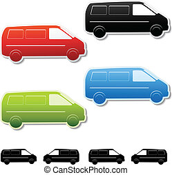 Vector car stickers - gratis delivery