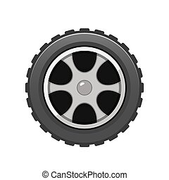 Vector Car Tire icon isolated on white background