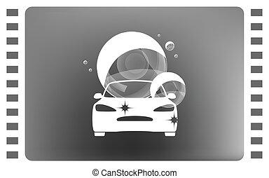 Vector car wash icon