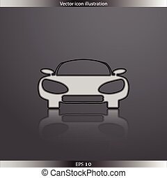 Vector car web flat icon
