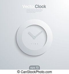 vector, cara, 3d, illlustraion., reloj