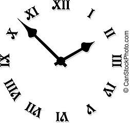 vector, cara de reloj