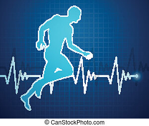 vector, cardíaco, frecuencia