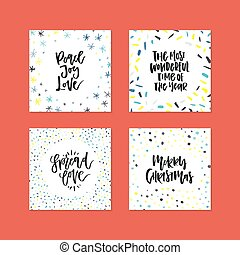 Vector Card Collection - Card templates with decorations and...