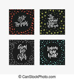 Vector Card Collection - Vector decorative holiday card...