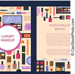Vector card, flyer, brochure template for beauty brand presentation