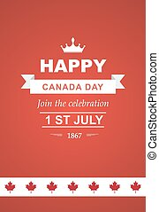 Vector card for Canada Day.