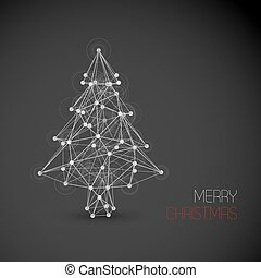 Vector card with abstract christmas tree