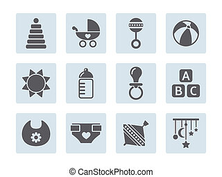 vector card with baby icons