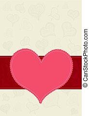 Vector card with heart