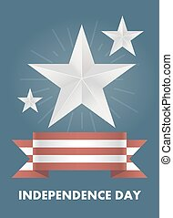 Vector card with Independence Day o