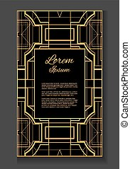 Vector card with place for  text.