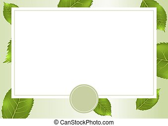 Vector card with summer background