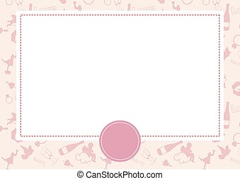 Vector card with Valentine background