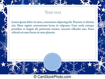 Vector card with Winter background