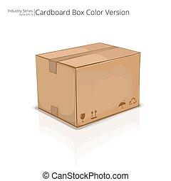 Vector Cardboard Box.